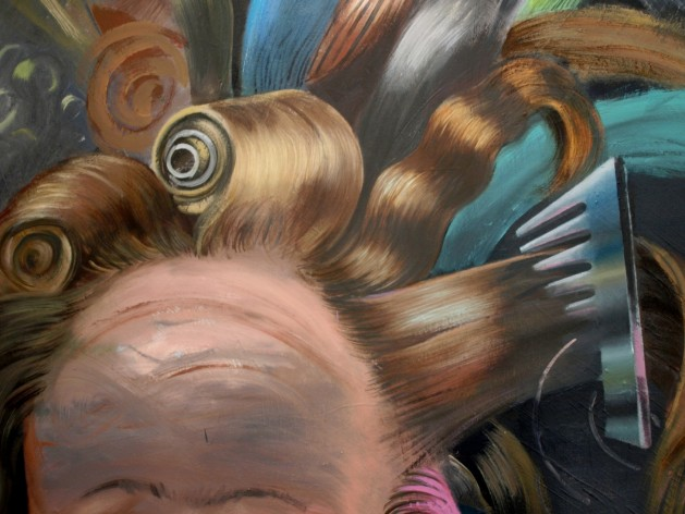 Kristina Schuldt, Beim Friseur (At the Barber's, detail)